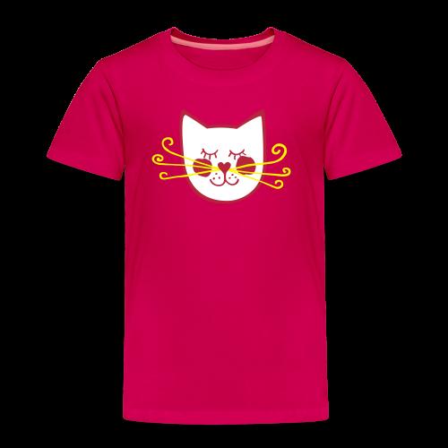 Feine Katze rot-gelb - Kinder Premium T-Shirt