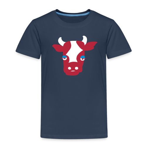 Muh-Kuh rot-blau - Kinder Premium T-Shirt