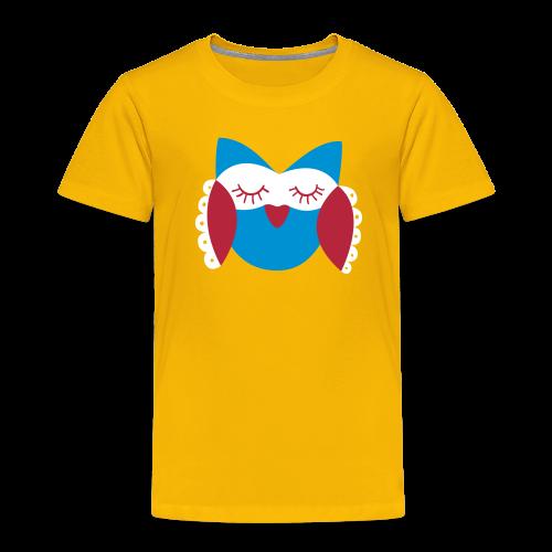 Frau Eule rot-blau - Kinder Premium T-Shirt