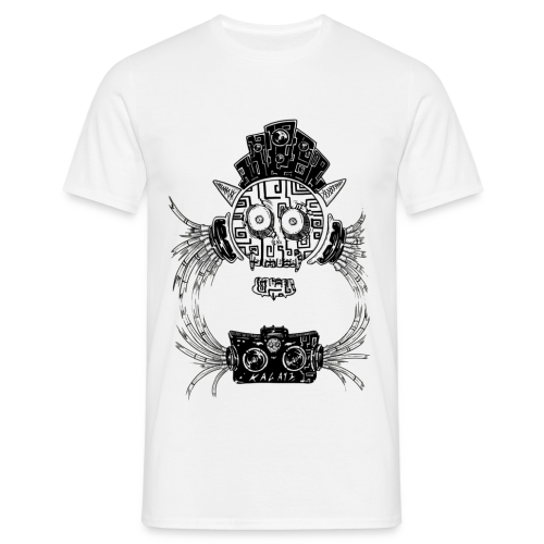 Crâne musique Dj masque tribal africain  - T-shirt Homme