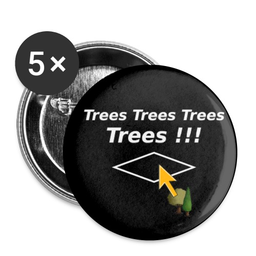 trees Pin - Buttons small 1''/25 mm (5-pack)