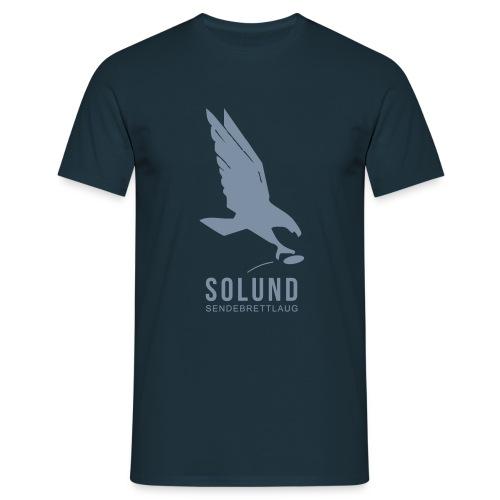 T-skjorte marineblå med sølvtrykk - T-skjorte for menn