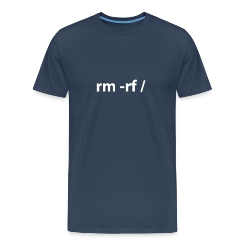 Linux - rm -rf root (multicolor) - Men's Premium T-Shirt