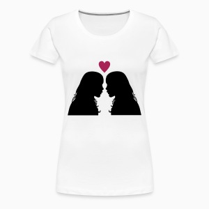 Kissing Girls Ladies Shirt - T-shirt Premium Femme