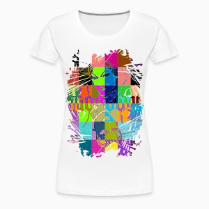 Criss Cross Ladies Shirt - T-shirt Premium Femme