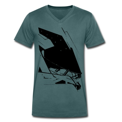 Escalators V Men - Men's Organic V-Neck T-Shirt by Stanley & Stella