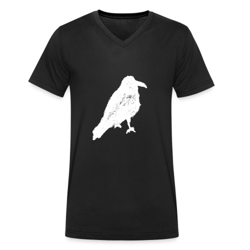 Raven Invert V Men - Men's Organic V-Neck T-Shirt by Stanley & Stella
