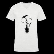 T-Shirts ~ Men's V-Neck T-Shirt ~ Bulb Invert V Men