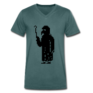 T-Shirts ~ Men's V-Neck T-Shirt ~ Plaguedoctor Pixel V Men