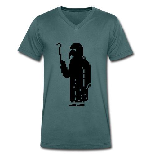 Plaguedoctor Pixel V Men - Men's Organic V-Neck T-Shirt by Stanley & Stella