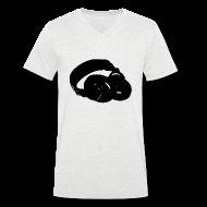 T-Shirts ~ Men's V-Neck T-Shirt ~ Headphones V Men