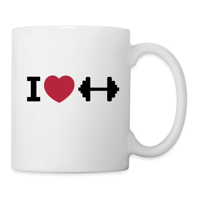 I love Fitness – Bodybuilding – Training – Tasse (dh)