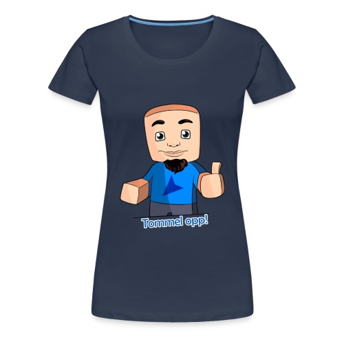 Tommel opp! Kvinner (blå) - Premium T-skjorte for kvinner