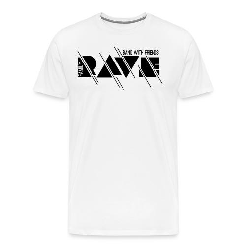 Premium T-Shirt // RAVE (Logo schwarz) - Männer Premium T-Shirt