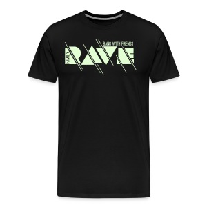 Premium T-Shirt // RAVE (glow in the dark!) - Männer Premium T-Shirt