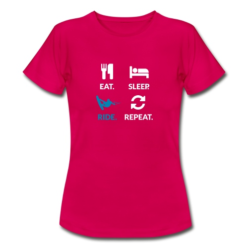 Eat Sleep Ride Repeat Woman T-Shirt - Women's T-Shirt
