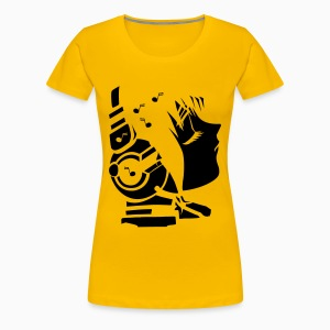 Music Headset Ladies  Shirt - T-shirt Premium Femme