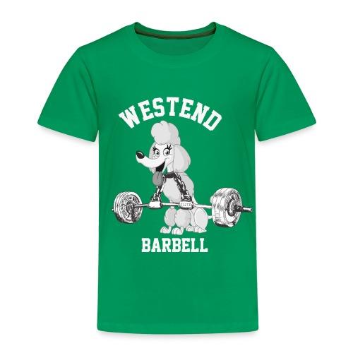 Lasten Westend barbell T-paita, unisex-malli - Lasten premium t-paita