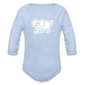 Kleiner Elefant Baby Bodys - Baby Bio-Langarm-Body