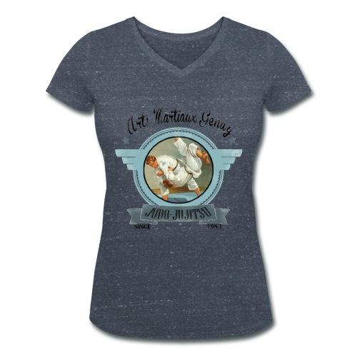 t shirt femme vintage - T-shirt bio col V Stanley & Stella Femme
