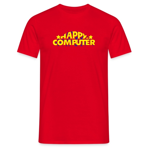 Happy Computer Fan Shirt - Männer T-Shirt
