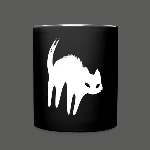 Weiße Katze - Tasse einfarbig