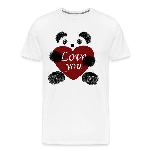 Panda love! - Men's Premium T-Shirt