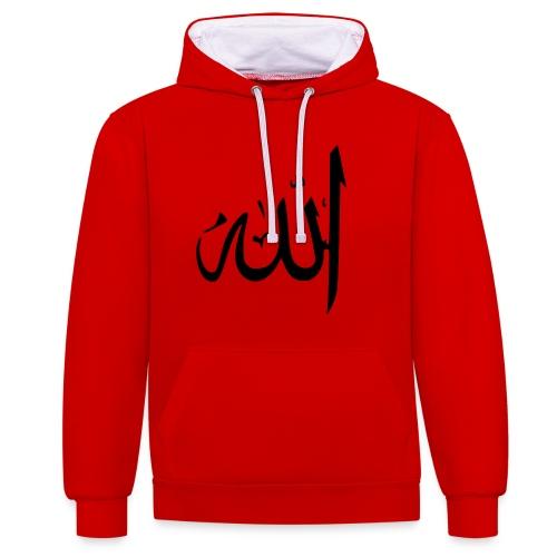 Allah - Kontrast-Hoodie