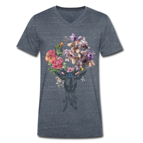 Deer Flower for men V-Col - T-shirt bio col V Stanley & Stella Homme