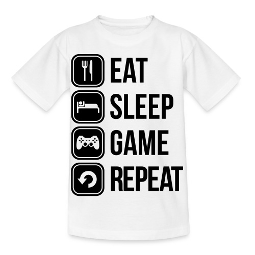 Eat,Sleep,Game,Repeat Childrens - Kids' T-Shirt