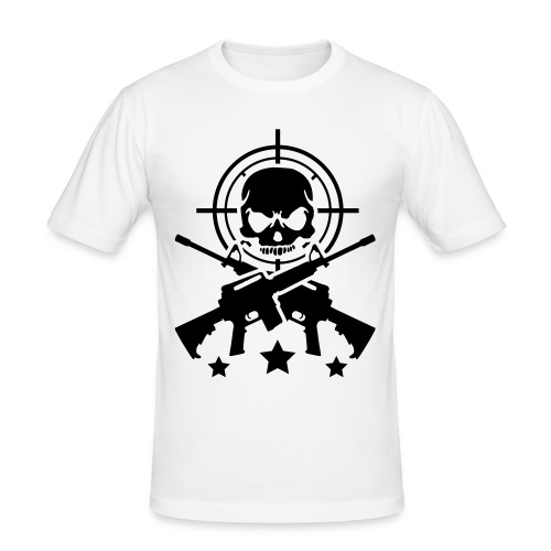 Skull/Crossbones - Men's Slim Fit T-Shirt