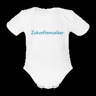 Baby Bodys ~ Baby Kurzarm-Body ~ Zukunftsmusiker (Baby-Body) blau