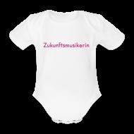 Baby Bodys ~ Baby Kurzarm-Body ~ Zukunftsmusikerin (Baby-Body) rosa