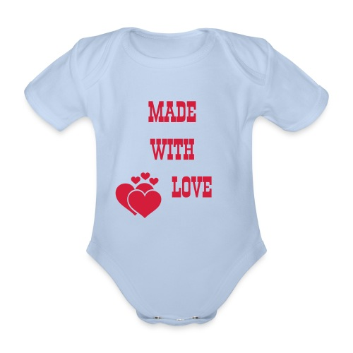 Baby Strampler: Made with love - Baby Bio-Kurzarm-Body