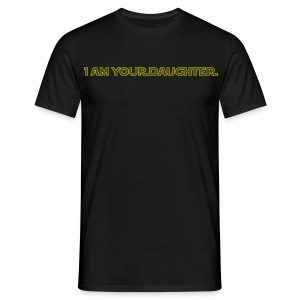 I am (male) your daughter (yellow) - Men's T-Shirt