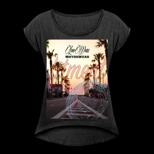 fitment_T women - Frauen T-Shirt mit gerollten Ärmeln