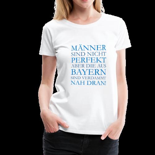 Männer aus Bayern T-Shirt (Damen Weiß/Blau) - Frauen Premium T-Shirt