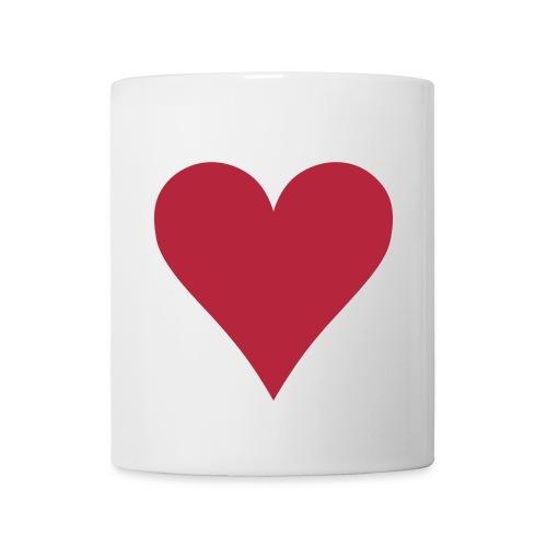 Weiße Tasse  Herz  - Tasse