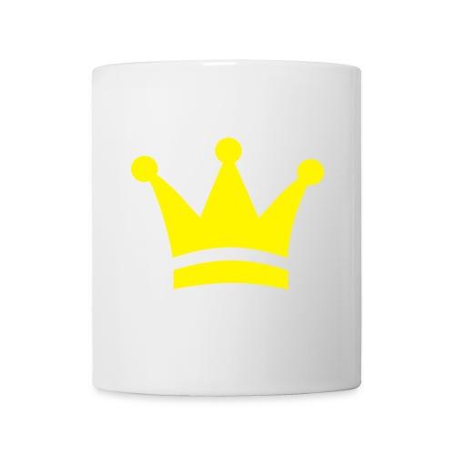Weiße tasse  Krone  - Tasse