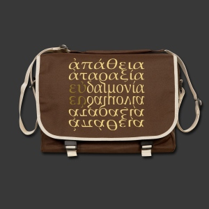 APATHIA ATARAXIA EUDAIMONIA - Shoulder Bag