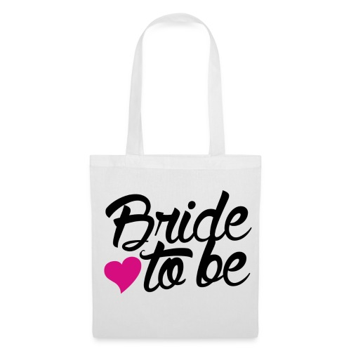 pink heart bride to be - Tote Bag