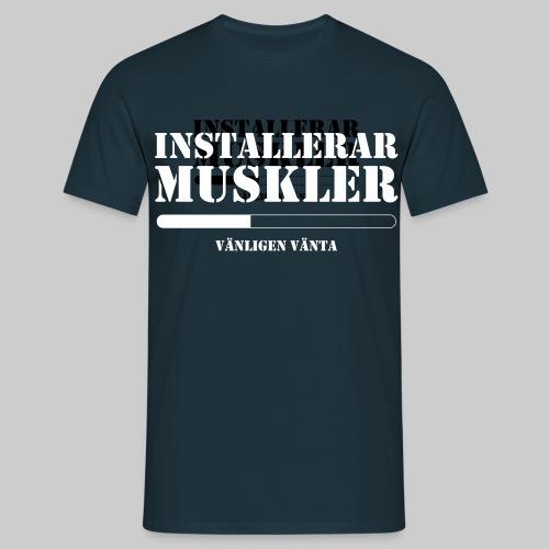 Installerar Musklar - T-shirt herr