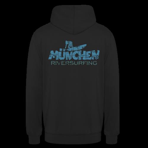München Riversurfing Hoodie (Rückenaufdruck) - Unisex Hoodie