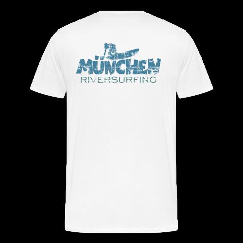 München Riversurfing T-Shirt (Rückenaufdruck) - Männer Premium T-Shirt