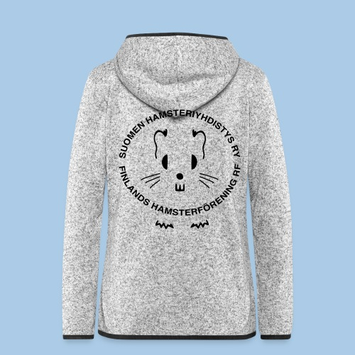 Naisten hupullinen fleecetakki logolla selässä - Naisten hupullinen fleecetakki