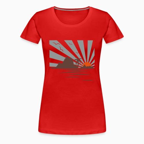 Sun Set Island Ladies Shirt - T-shirt Premium Femme
