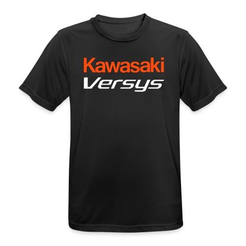 T-Shirt Sonderversion mit orange/weißer Schrift - Männer T-Shirt atmungsaktiv