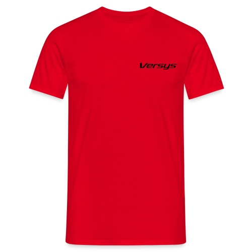 T-Shirt mit schwarzer Schrift  - Männer T-Shirt