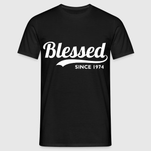 Blessed since 1974 - Birthday Thanksgiving T-Shirts - Men's T-Shirt