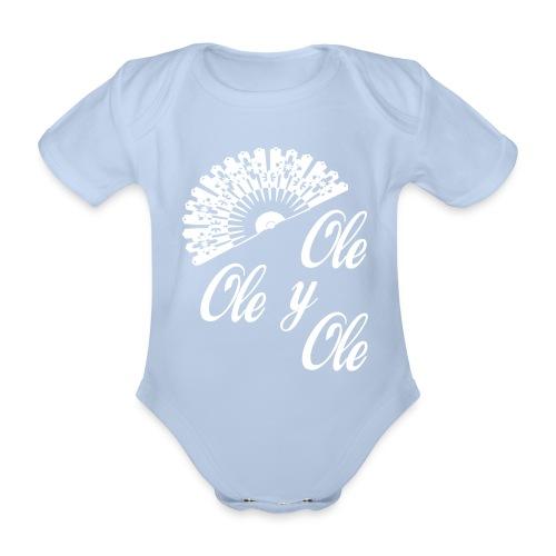 Ole,Ole y Ole - Body orgánico de maga corta para bebé